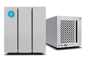 LaCie 2big Thunderbolt 2 Front and Rear View