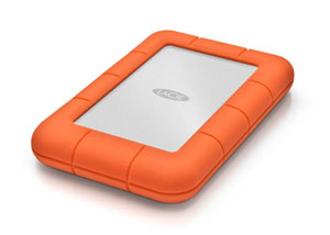LaCie Rugged Thunderbolt USB 3.0 Left Angle View