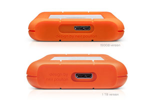LaCie Rugged Thunderbolt USB 3.0 Back Compare Version