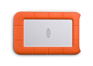 LaCie Rugged Thunderbolt USB 3.0 Top View