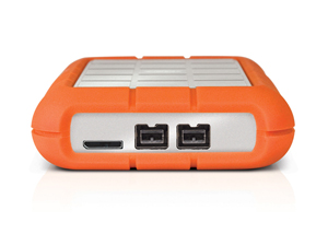 LaCie Rugged Triple USB 3.0 Back View