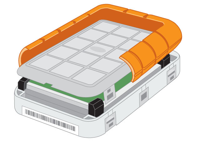 Lacie Rugged Triple Usb 3 0 Interior View